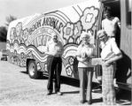 Bookmobile Children signing out books & staff circa 1960s