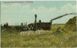 Canadian Harvesting Scene: Threshing