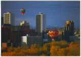 Calgary, Alberta, Canada (Office Towers with Hot-air Balloons)