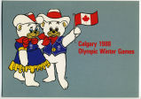 Hidy and Howdy.  The Official Mascots of the 1988 Winter Games.