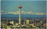 Calgary, Alberta ('Husky' Tower and Mountains - Skyline)