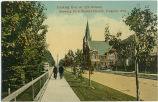 Looking East on 13th Avenue, showing First Baptist Church, Calgary, Alta.