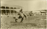 "A.D. Kean on ""Gray Slivers"" at ""The Stampede,"" Calgary Alta. 1912 (Bucking..."