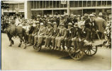 Oldtimers Riding Wagon in Calgary Stampede Parade