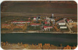 An Aerial View of Central Alberta Sanatorium on the Banks of the Bow River near Bowness Park,...