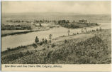 Bow River and Eau Claire Mill, Calgary, Alberta
