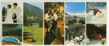 (views of the Banff Springs Hotel and recreational activities)